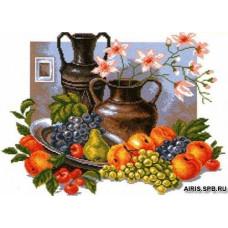 601 Канва с рисунком 'Матренин посад' 'Натюрморт с кувшинами', 37*49 см