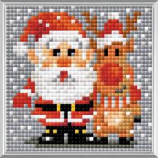 AM0018 Набор алмазной мозаики Риолис «Санта-Клаус» 10*10 см