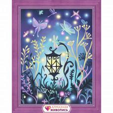 АЖ-1612 Картина стразами 'Волшебный фонарь' 30*40см