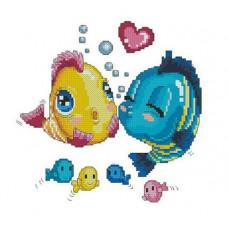 7518 Мозаика Cristal 'Влюбленные рыбки', 30*30 см