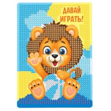 3242887 Алмазная мозаика для детей 'Давай играть'+ емкость, стержень с клеевой подушечкой