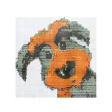 BZ064 Мозаика на деревянной основе 'Удивление', 20*20 см