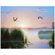 Ag 1001 Набор д/изготовления картин со стразами 'Рассвет' 48*38см Гранни