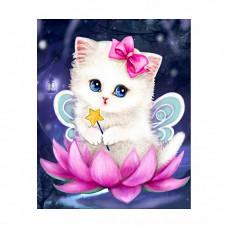M022 Алмазная картина Колор Кит 'Волшебный котенок'17*21см