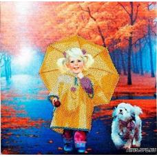 В1013 Канва с рисунком Alisena 'На прогулке', 30*30 см