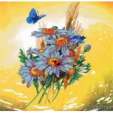 В1054 Канва с рисунком Alisena 'Ромашки', 19,7*19,5 см