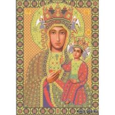 Бис1211 Рисунок на канве для вышивки бисером 'Богородица Ченстоховская'