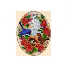 НР-3078 Канва с рисунком для вышивания бисером 'Гнездышко' Hobby&Pro 25*34см