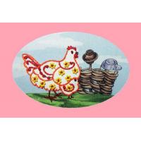 3006 ОТ Набор для вышивания открытки Вышивальная мозаика 'Курочка' 10*15см