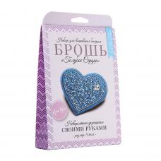 НБР-18001/1 Набор для вышивания бисером: Брошь «Голубое сердце».