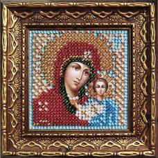 2011дПИ Набор для вышивания бисером 'Вышивальная мозаика' Икона 'Божия Матерь Казанская', 6,5*6,5 см