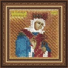 046ПМИ Набор для вышивания бисером 'Вышивальная мозаика' Икона 'Св. Мученица царица Александра Римская', 6,5*6,5 см