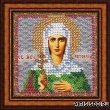 074ПМИ Набор для вышивания бисером 'Вышивальная мозаика' Икона 'Св. Муч. Антонина Никейская', 6,5*6,5 см