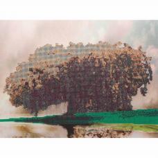 71009 Канва с рисунком Gluriya 'Белое дерево' 30*40 см