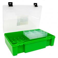 ТИП-8 Коробка с 16 катушкодержателями, вкладыш для мелких предметов и большое отделение для ножниц (салатовый)