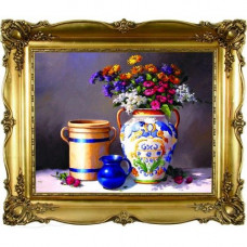 Y6034 Картина со стразами 6D 'Натюрморт с вазой', 68*58см