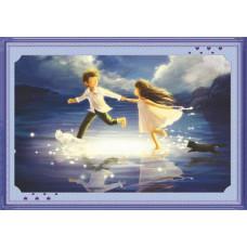 51283 Картина со стразами 5D 'Бегущие по волнам', 80x55см