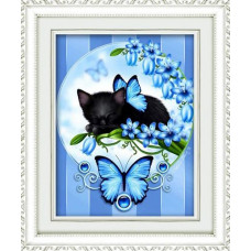1335 Мозаика Cristal 'Голубые мечты', 40*50 см