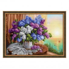 АЖ-1819 Картина стразами «Сирень у окна» 70*50см