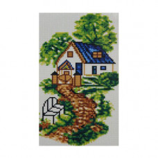 F1301 Мозаика 'Тропинка к дому' 19*34 см. (холст 22*37см), Cristal