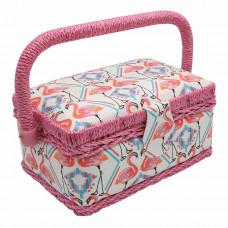 LY1633S Шкатулка малая, декоративная 'Фламинго' 18*12*9,5см