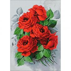 Ag 309 Набор д/изготовления картин со стразами 'Изысканные розы'27*38см Гранни