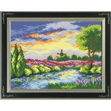 7506 Мозаика Cristal 'Вечерняя река', 35*30 см