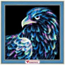 АЖ-1712 Картина стразами 'Неоновый орёл' 25*25см