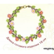 Б018 Браслет с цветами
