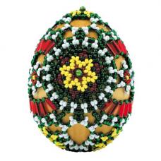 В191 Набор для бисероплетения Riolis 'Яйцо Лужицкие мотивы', 6*4,5 см