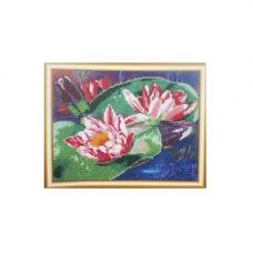 НР-3060 Канва с рисунком для вышивания бисером 'Кувшинки' Hobby&Pro 25*20см