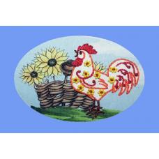 3007 ОТ Набор для вышивания открытки Вышивальная мозаика 'Петушок' 10*15см