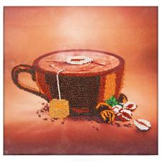 60104 Набор для вышивания бисером Astrea 'Кофе' 30х30см