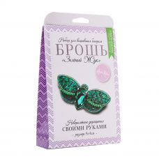 НБР-18015/1 Набор для вышивания бисером: Брошь «Зелёный жук».