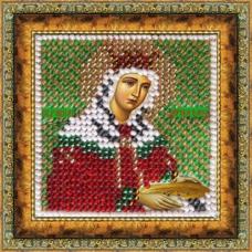 032ПМИ Набор для вышивания бисером 'Вышивальная мозаика' Икона 'Св. Равноап. Царица Елена', 6,5*6,5 см