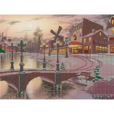71010 Канва с рисунком Gluriya 'Зима' 30*40 см