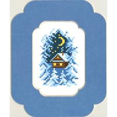51/БП Набор для вышивания с бисером и паспарту