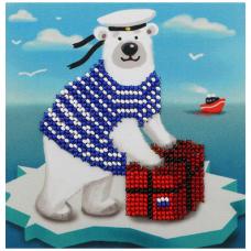 Б-0206 Набор для вышивания бисером Бисеринка 'Почтальон' 12*12см