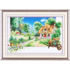 9074 Картина со стразами 'Фазенда', 86*60см