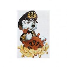 CZ005 Мозаика на деревянной основе 'Капитан', 20*30 см