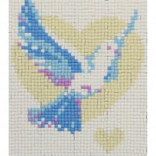 7052 Мозаика 'Голубь', 11*12см