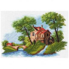 1614 Канва с рисунком Матренин посад 'Голландский пейзаж' 37*49см