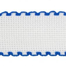 Канва 'лента', 1,5м*3,5см, 100% хлопок Bestex (белый/синий)