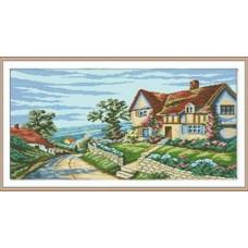 7018 Мозаика Cristal 'Дом у моря', 55*42 см