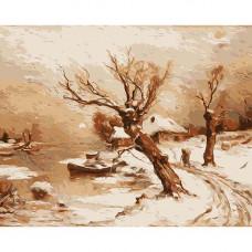 A023 Деревня в снегу