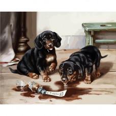 H004 Два щенка