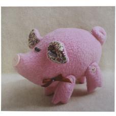 P001 Набор для изготовления текстильной игрушки Розовый поросенок
