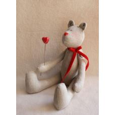 В001 Набор для изготовления текстильной игрушки 100% лен (Ваниль)