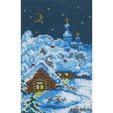 БК- 24 Набор для вышивания 'МП Студия' 'Зимняя ночь', 10x15 см