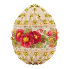 В195 Набор для бисероплетения Riolis яйцо пасхальное 'Примула', 8.5*10,7 *5 см